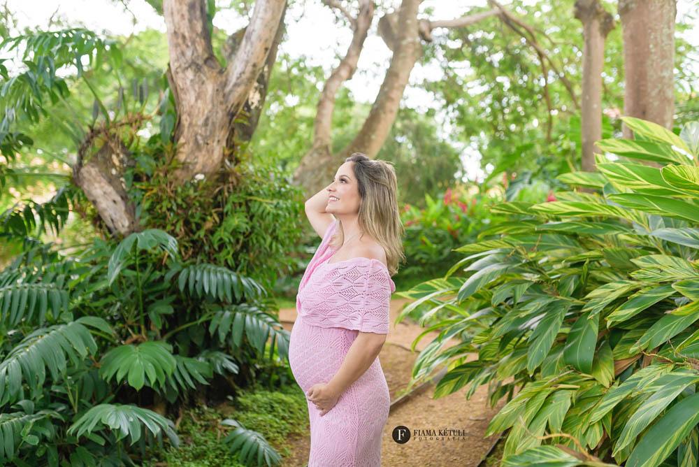 vestido rosa ensaio de gestante em brasilia df