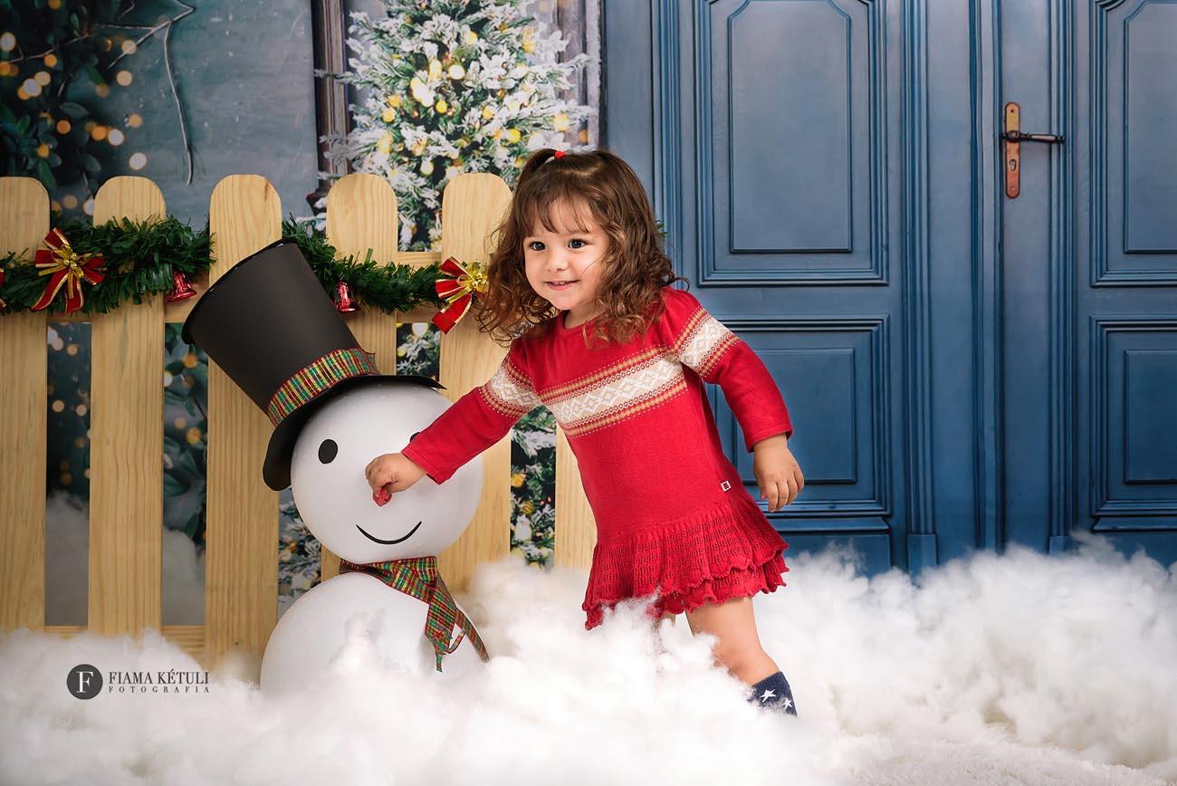 cenario natalino boneco de neve estudio brasilia