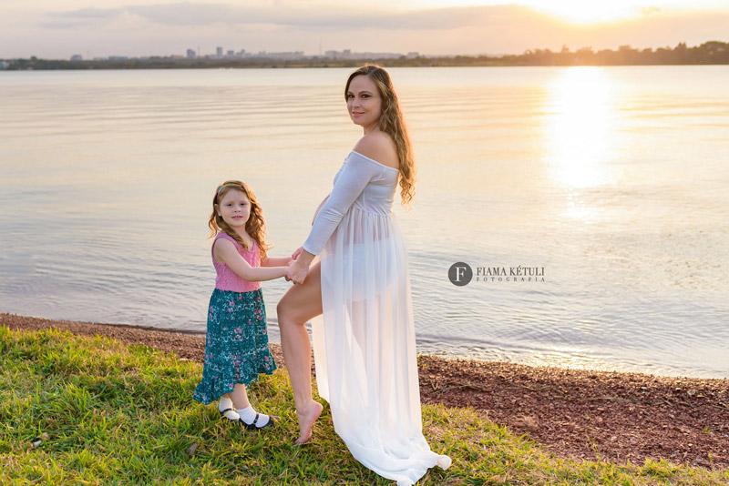Ensaio de gestante com filho em Brasília