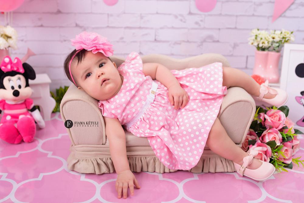 Ensaio de bebê tema Minnie