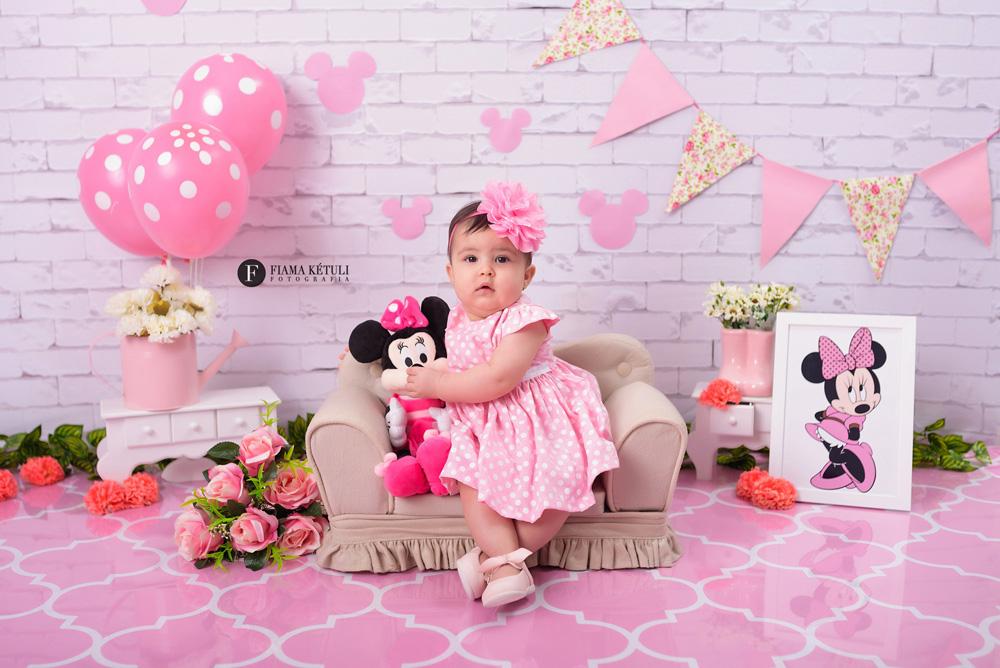Ensaio Minnie bebê 6 meses