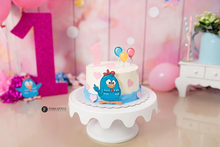 Bolo para Smash the cake Galinha Pintadinha menina Brasília