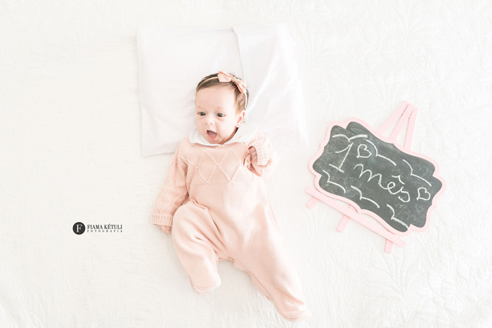 Ensaio em casa de bebê de 1 mês Brasília