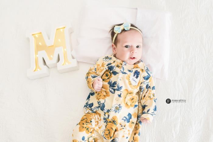 Ensaio em casa de bebê de 1 mês