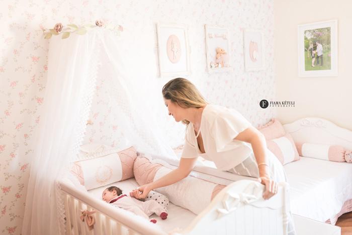 Fotógrafa profissional para ensaio de bebê de 1 mês