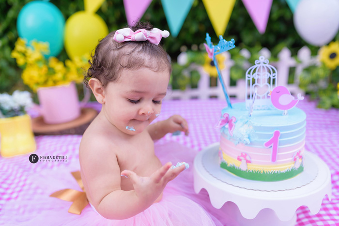 Ensaio Smash the Cake - Ideias lindas e divertidas