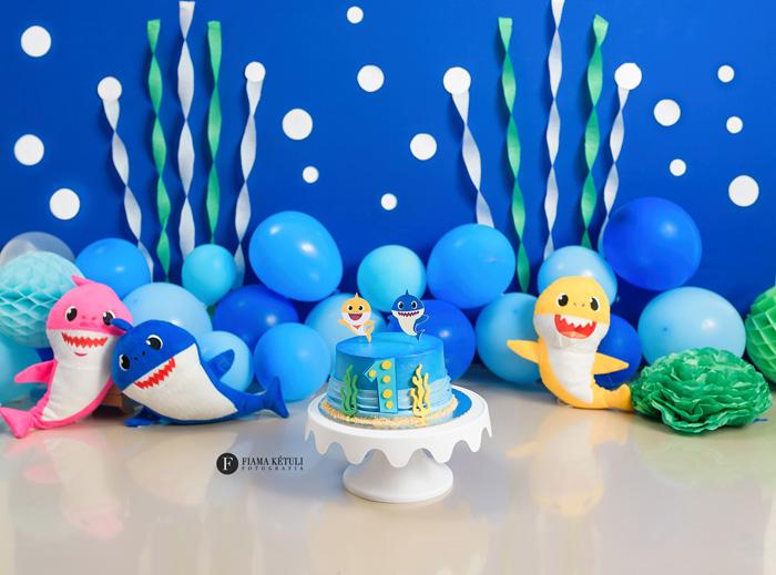 Smash the Cake Baby Shark para menino Brasília