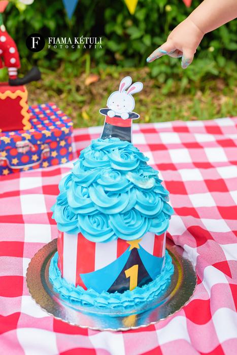 Smash the Cake tema Circo Menino