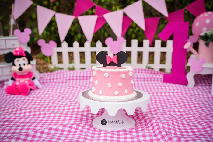 Smash the cake Externo Minnie menina Brasília